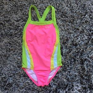Speedo girls swimming suit sz 12 pink